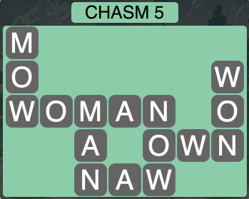 Wordscapes Ravine Chasm 5 - Level 4193 Answers