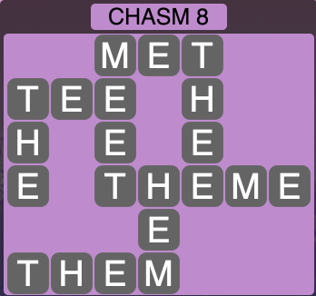 Wordscapes Ravine Chasm 8 - Level 4196 Answers