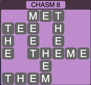 Wordscapes Ravine Chasm 8 - Level 4196 Answers