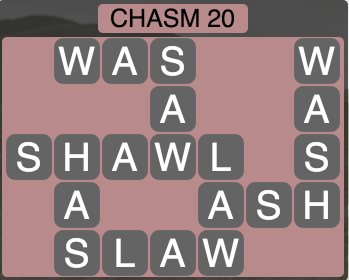 Wordscapes Ravine Chasm 20 - Level 4208 Answers