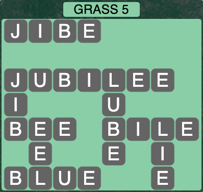 Wordscapes Grass 5 - Level 4245 Answers