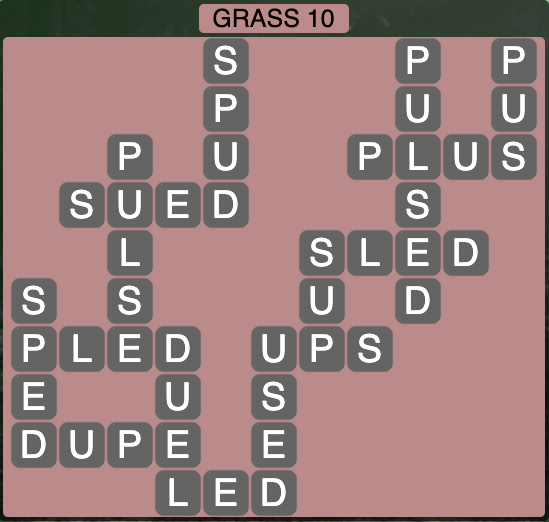 Wordscapes Grass 10 - Level 4250 Answers