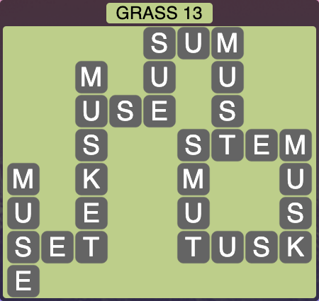 Wordscapes Grass 13 - Level 4253 Answers