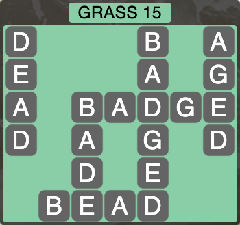 Wordscapes Grass 15 - Level 4255 Answers