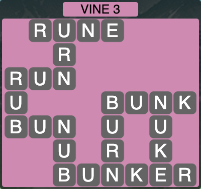Wordscapes Vine 3 - Level 4283 Answers