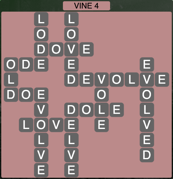 Wordscapes Vine 4 - Level 4284 Answers