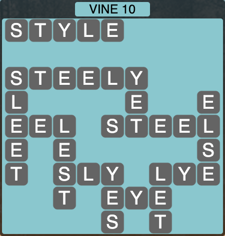 Wordscapes Vine 10 - Level 4290 Answers