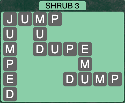 Wordscapes Botanical Shrub 3 - Level 4275 Answers