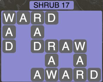 Wordscapes Botanical Shrub 17 - Level 4317 Answers