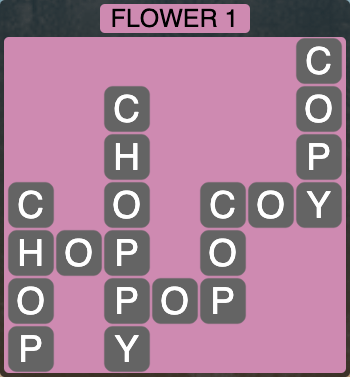 Wordscapes Botanical Flower 1 - Level 4289 Answers