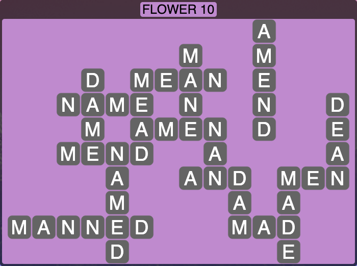 Wordscapes Botanical Flower 10 - Level 4330 Answers