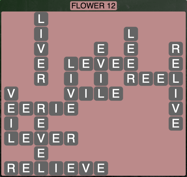 Wordscapes Botanical Flower 12 - Level 4300 Answers