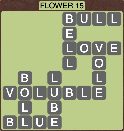 Wordscapes Botanical Flower 15 - Level 4335 Answers
