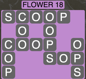 Wordscapes Botanical Flower 18 - Level 4338 Answers