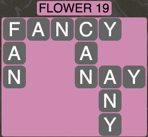 Wordscapes Botanical Flower 19 - Level 4339 Answers
