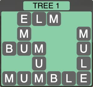 Wordscapes Botanical Tree 1 - Level 4305 Answers
