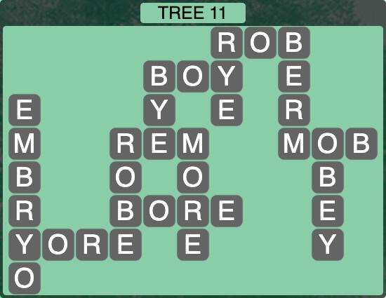 Wordscapes Botanical Tree 11 - Level 4315 Answers