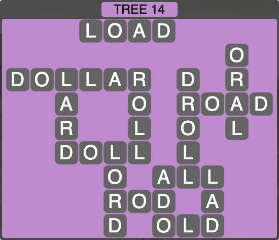 Wordscapes Botanical Tree 14 - Level 4318 Answers