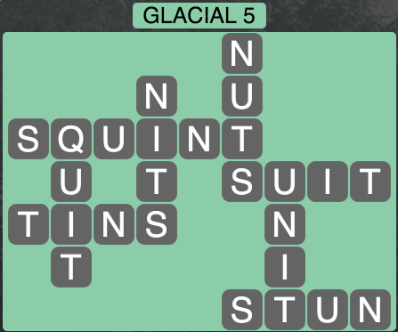 Wordscapes Arctic Glacial 5 - Level 4361 Answers