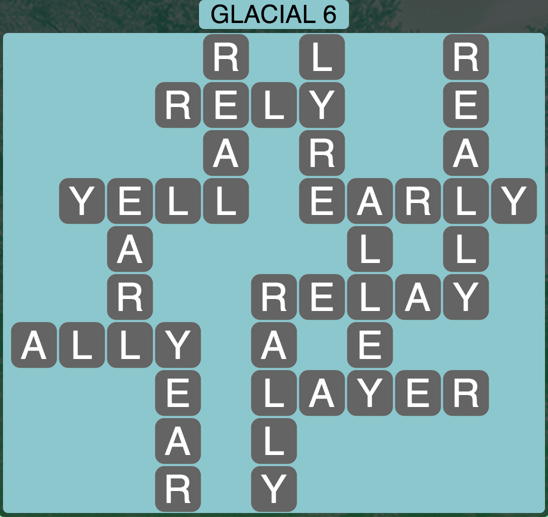 Wordscapes Arctic Glacial 6 - Level 4362 Answers