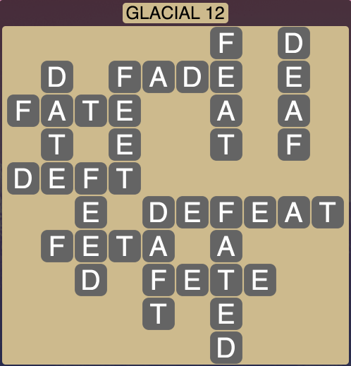 Wordscapes Arctic Glacial 12 - Level 4368 Answers