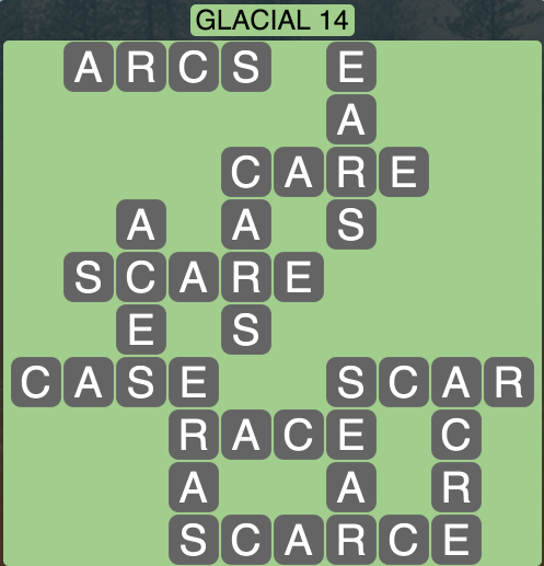 Wordscapes Arctic Glacial 14 - Level 4370 Answers