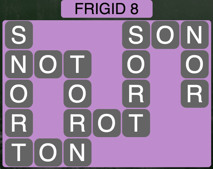 Wordscapes Arctic Frigid 8 - Level 4380 Answers