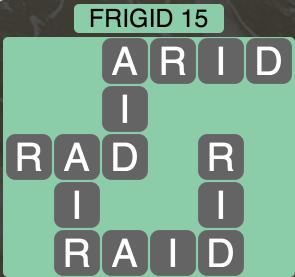 Wordscapes Arctic Frigid 15 - Level 4387 Answers