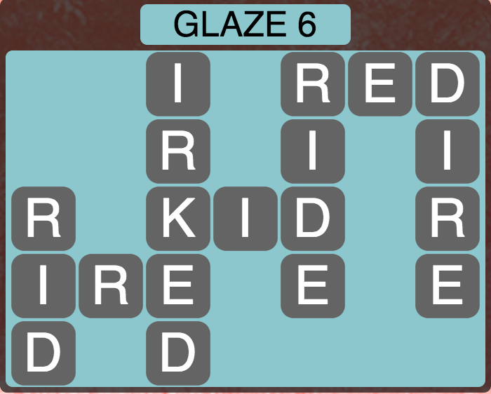Wordscapes Arctic Glaze 6 - Level 4418 Answers