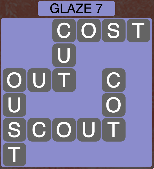 Wordscapes Arctic Glaze 7 - Level 4419 Answers
