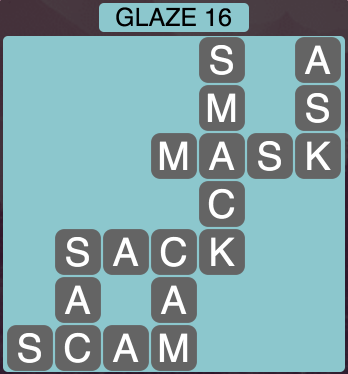 Wordscapes Arctic Glaze 16 - Level 4428 Answers