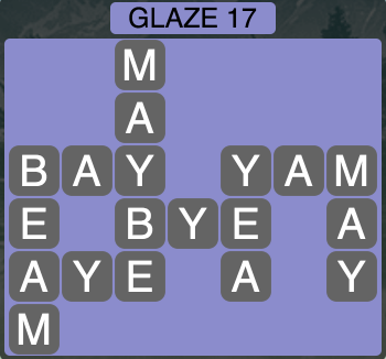 Wordscapes Arctic Glaze 17 - Level 4429 Answers