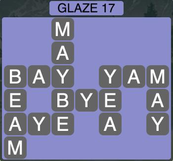 Wordscapes Arctic Glaze 17 - Level 4429 Answers