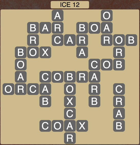 Wordscapes Arctic Ice 12 - Level 4444 Answers