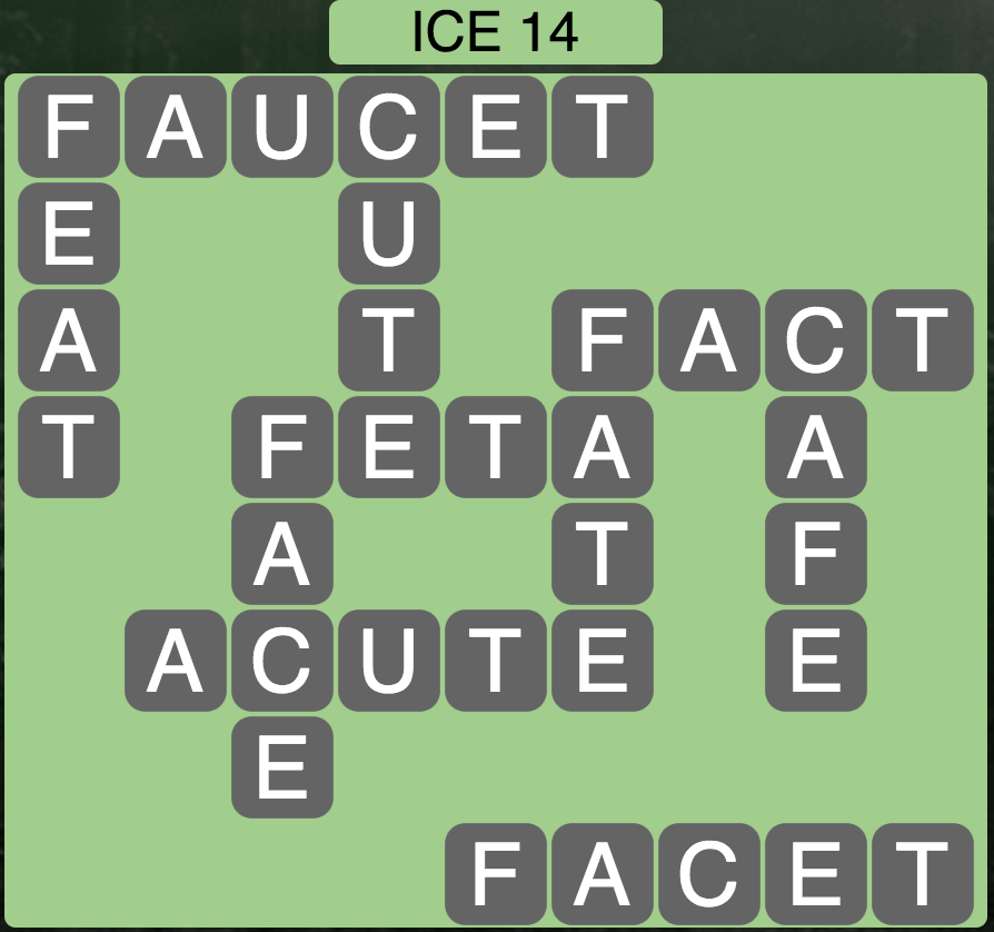 Wordscapes Arctic Ice 14 - Level 4446 Answers