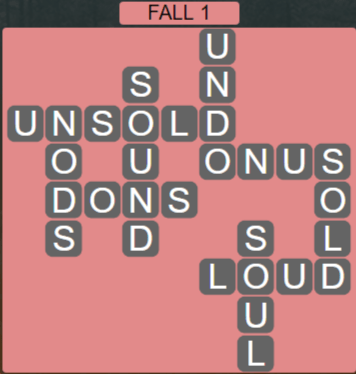 Wordscapes Marsh Fall 1 - Level 2161 Answers