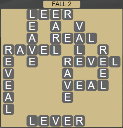 Wordscapes Marsh Fall 2 - Level 2162 Answers