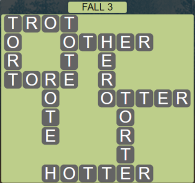 Wordscapes Marsh Fall 3 - Level 2163 Answers