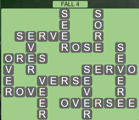 Wordscapes Marsh Fall 4 - Level 2164 Answers