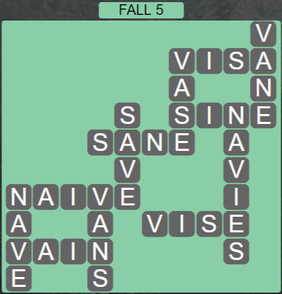 Wordscapes Marsh Fall 5 - Level 2165 Answers