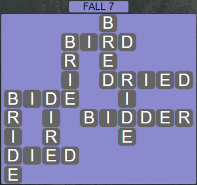 Wordscapes Marsh Fall 7 - Level 2167 Answers