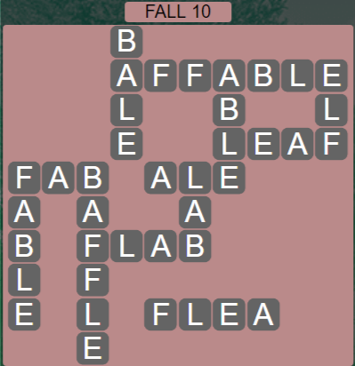 Wordscapes Marsh Fall 10 - Level 2170 Answers