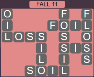 Wordscapes Marsh Fall 11 - Level 2171 Answers