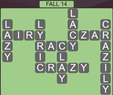 Wordscapes Marsh Fall 14 - Level 2174 Answers