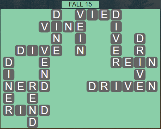Wordscapes Marsh Fall 15 - Level 2175 Answers