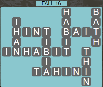 Wordscapes Marsh Fall 16 - Level 2176 Answers