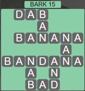 Wordscapes Marsh Bark 15 - Level 2191 Answers