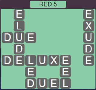 Wordscapes Marsh Red 5 - Level 2197 Answers