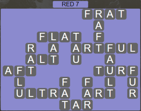 Wordscapes Marsh Red 7 - Level 2199 Answers