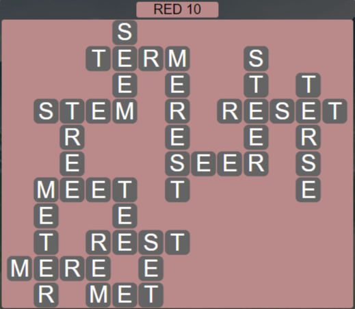 Wordscapes Marsh Red 10 - Level 2202 Answers
